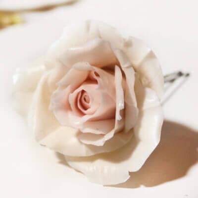 Rose flower hair pin handmade with love oriflowers rose flower hair pin mightylinksfo