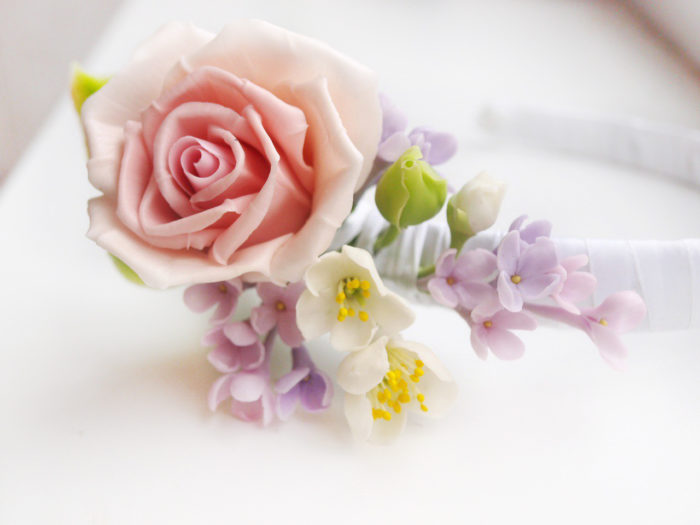 Rose Flower Headband 3 | Oriflowers