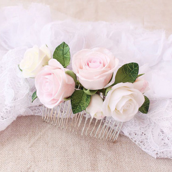 Rose Hair Comb | Oriflowers