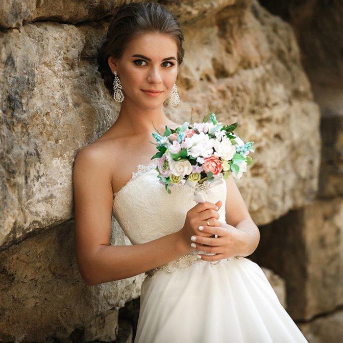 Rustic Wedding Bouquet 2   Oriflowers