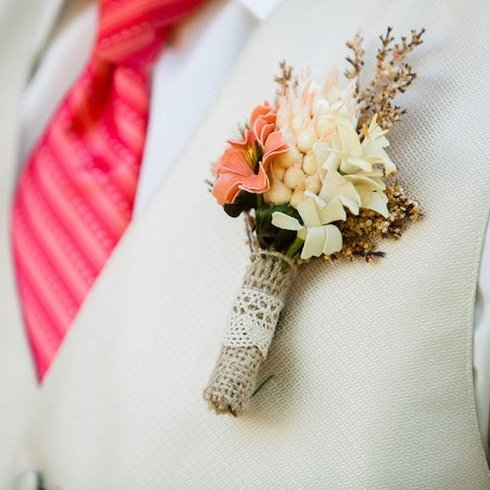 Rustic Wedding Boutonniere, Groom Accessories | Oriflowers