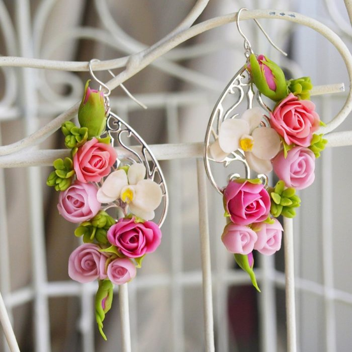 Tiny Flower Earrings, Handmade Fashion Jewelry | Oriflowers