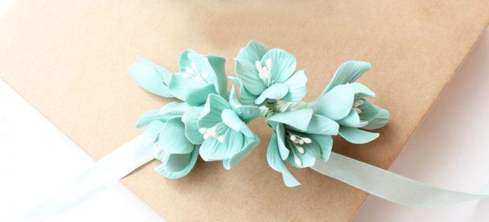 Turquoise Hydrangea Corsage 1 | Oriflowers