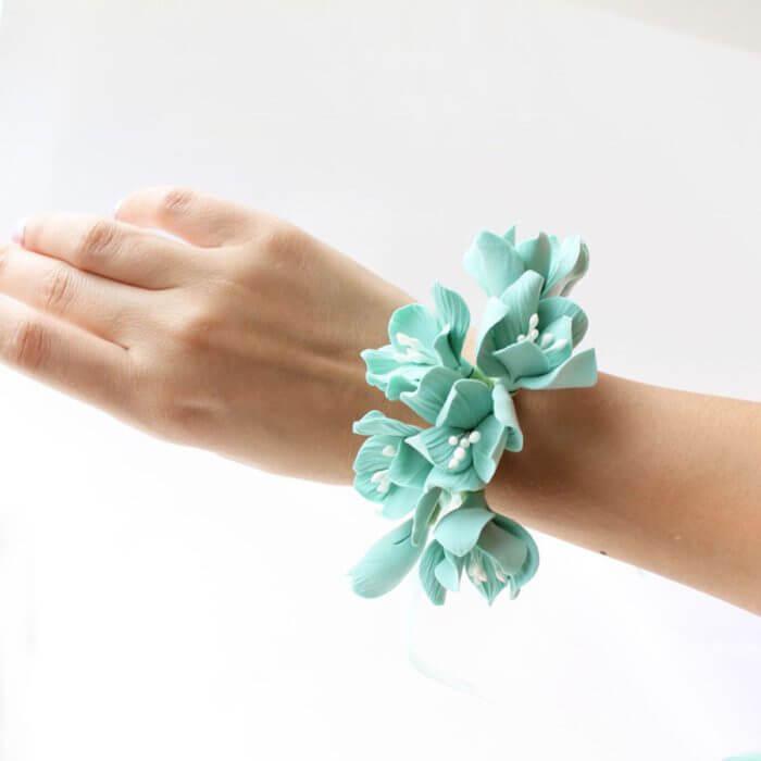 Turquoise Hydrangea Corsage | Oriflowers