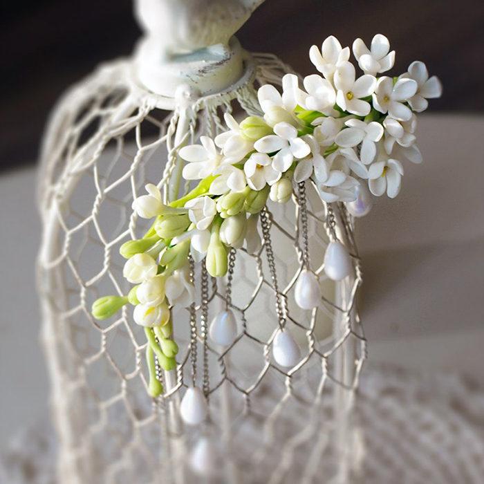 White Flower Clip | Oriflowers