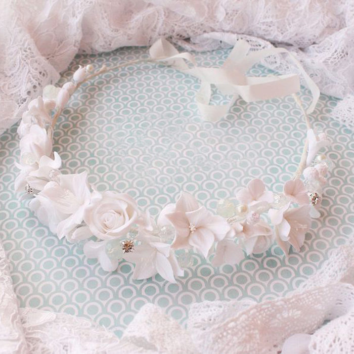 White Flower Crown | Oriflowers