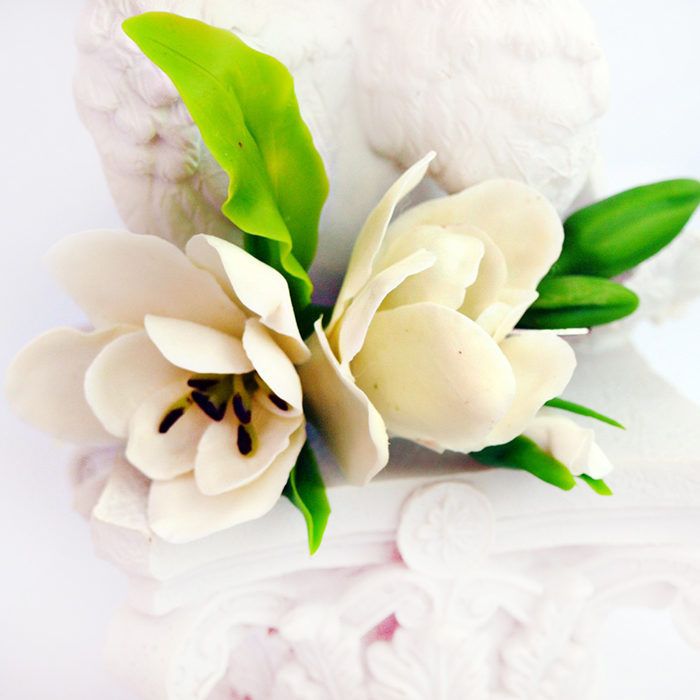 White Freesia Hair Clip 2 | Oriflowers