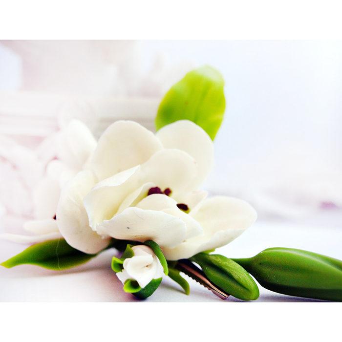 White Freesia Hair Clip 4 | Oriflowers