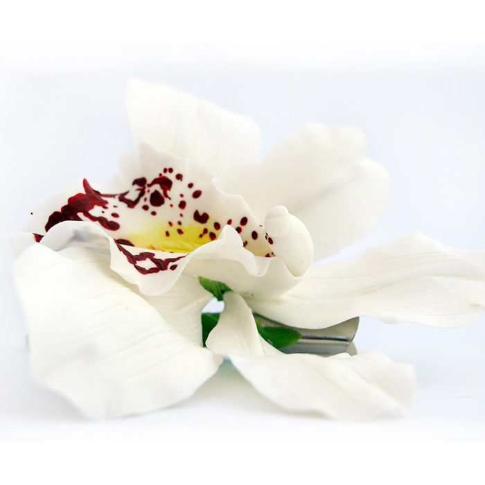 White Orchid Hair Flower 1 | Oriflowers