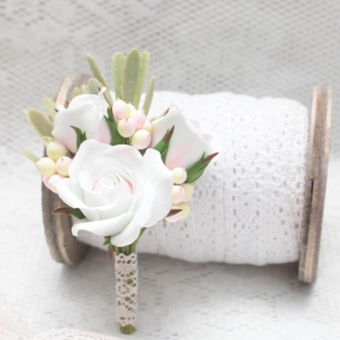 White Rose Boutonniere 2 | Oriflowers