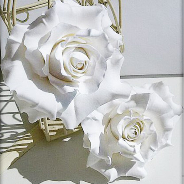 White Rose Hair Pins 1 | Oriflowers