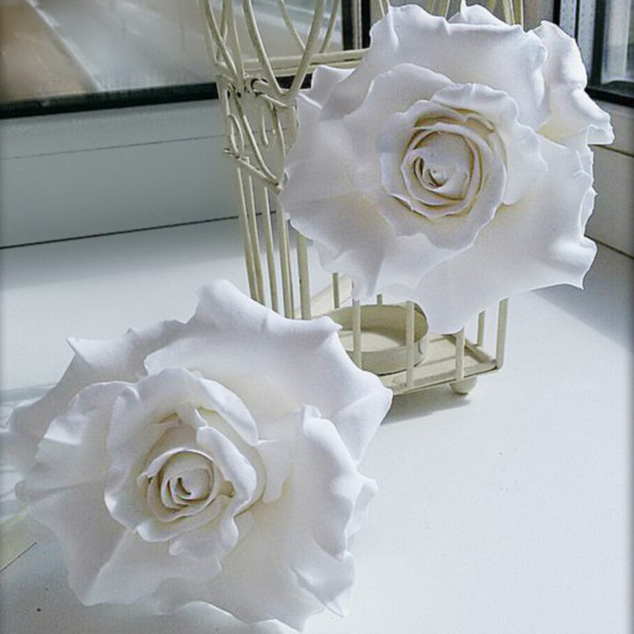 White Rose Hair Pins | Oriflowers