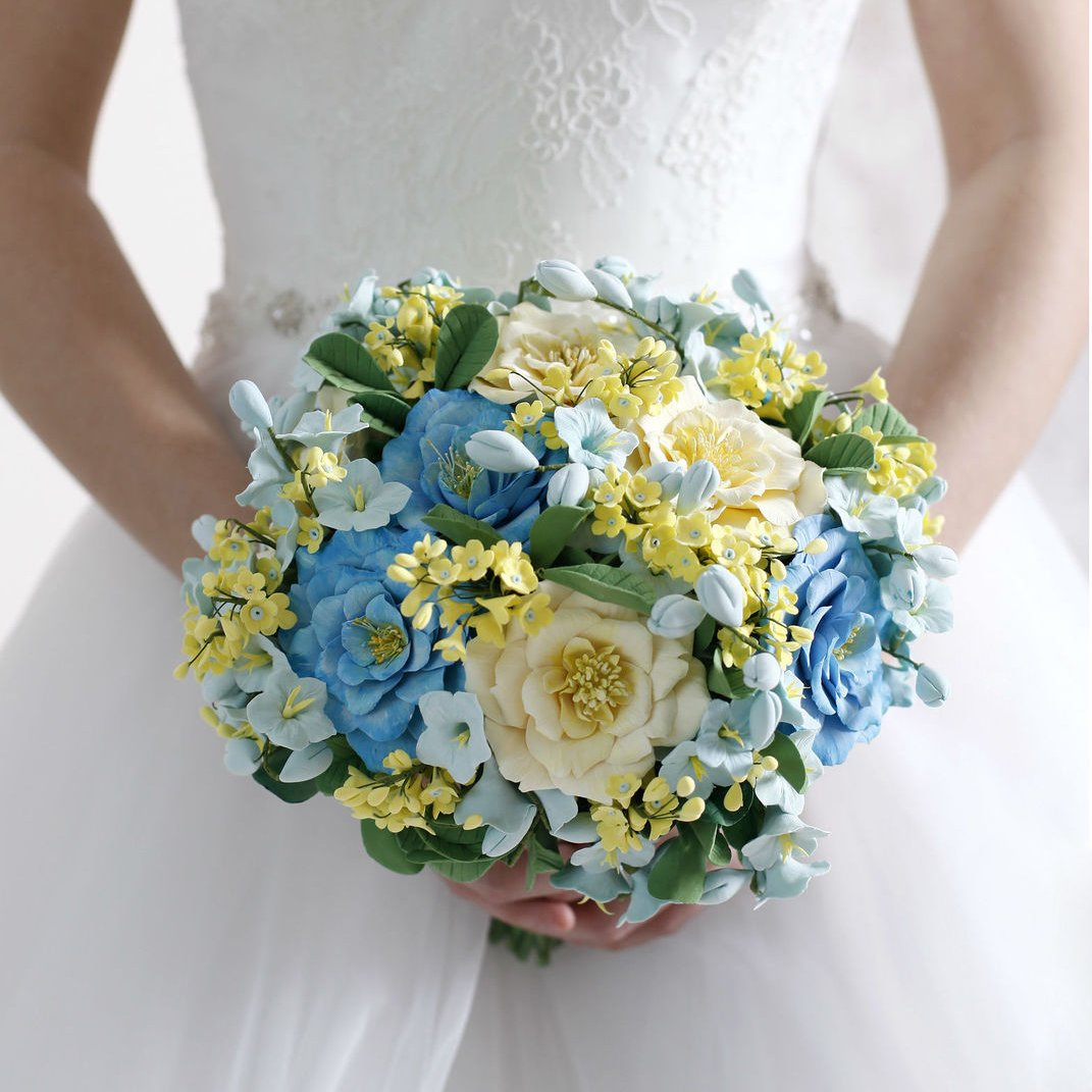 Wild Flower Wedding Bouquet: Wildflower Wedding Bouquet - Handmade With Love