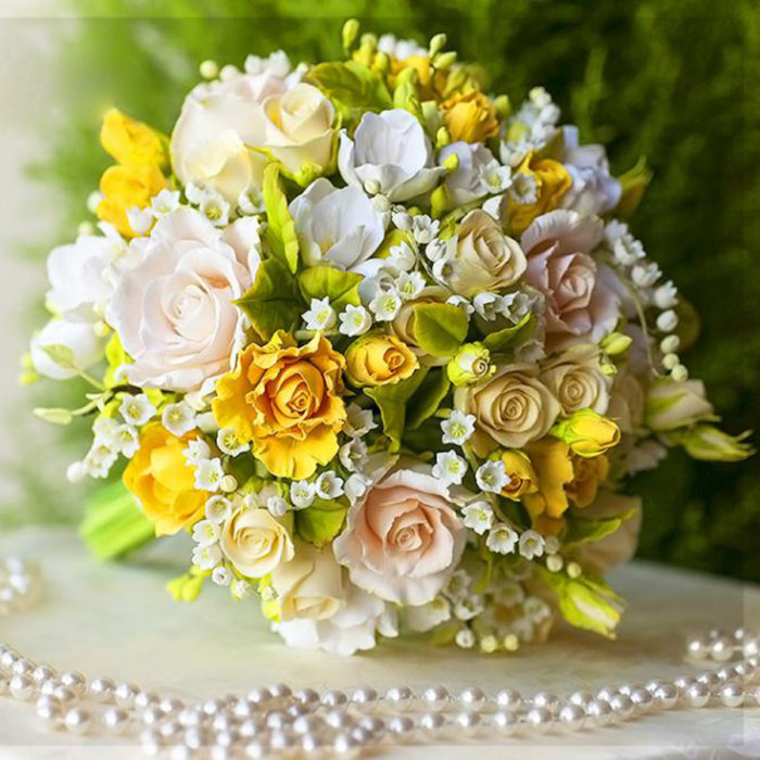 Yellow Rose Bridal Bouquet 2 | Oriflowers