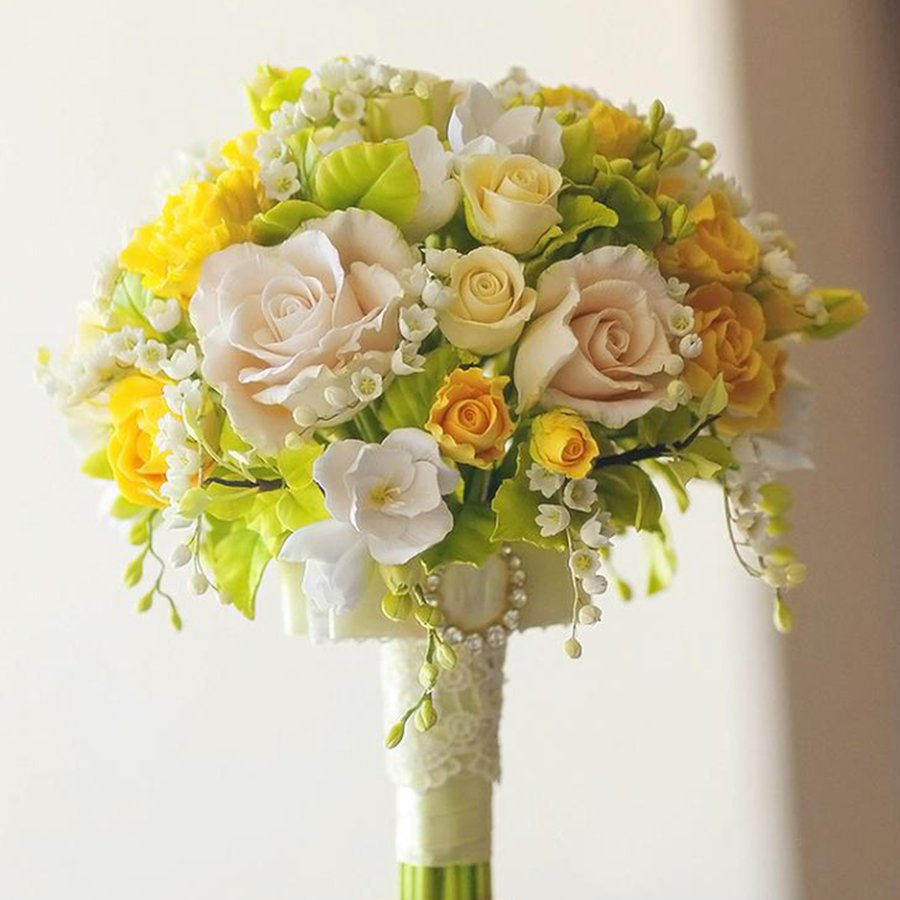Yellow Rose Bridal Bouquet - Handmade With Love | Oriflowers