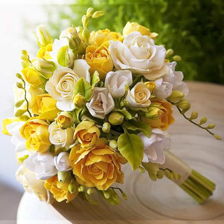 Wedding Flowers Yellow Roses: Yellow Rose Bridal Bouquet - Handmade With Love