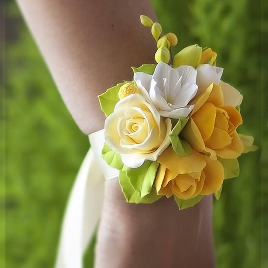 Yellow Rose Corsage Handmade With Love Oriflowers