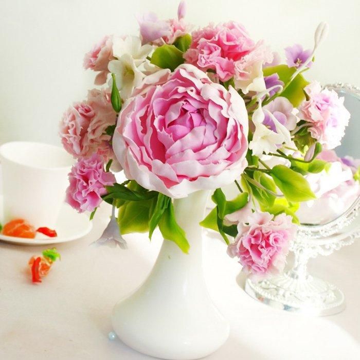 Peony Flower Arrangement Handmade With Love Oriflowers